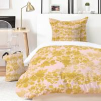 Deny Designs Gabi Audrey Gold 4-Piece Twin XL Duvet Cover Set in Gold