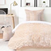 Deny Designs Holli Zollinger Esprit 4-Piece Twin XL Duvet Cover Set in Gold/Pink