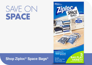 Save on Space. Shop Ziploc Space Bags Now