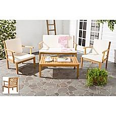 Safavieh Bradbury 4 Piece Outdoor Furniture Set With Cushions