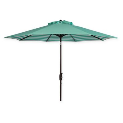 Merveilleux Safavieh UV Resistant Athens Inside Out Striped 9 Foot Crank Umbrella In  Green/White