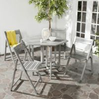 Safavieh Kerman 5-Piece Outdoor Dining Set in Grey