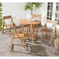 Safavieh Kerman 5-Piece Outdoor Dining Set in Teak