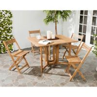 Safavieh Arvin 5-Piece Outdoor Dining Set in Teak
