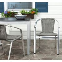 Safavieh Wrangell Stacking Arm Chair in Grey (Set of 2)