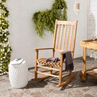 Safavieh Shasta Outdoor Rocking Chair in Teak
