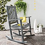 Safavieh Barstow All-Weather Acacia Wood Rocking Chair in Ash Grey