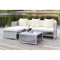 Safavieh Likoma 3-Piece Outdoor Furniture Set in Grey/Beige