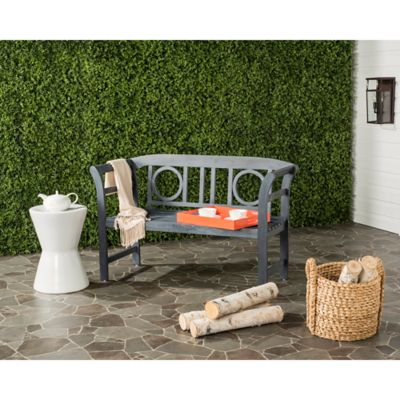 Safavieh Moorpark 2 Seat Outdoor Bench In Ash Grey
