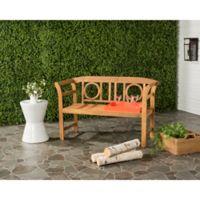 Safavieh Moorpark 2-Seat Outdoor Bench in Teak