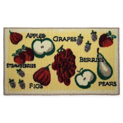 Krug Tossed Fruits Oblong Kitchen Rug