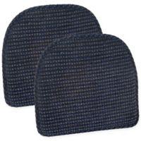 Klear Vu Staten Gripper® Chair Pad in Navy (Set of 2)