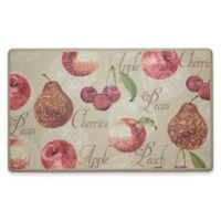 Chef Gear Elegant Fruit Gelness 18-Inch x 30-Inch Anti-Fatigue Kitchen Mat in Beige