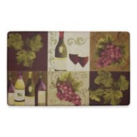 Chef Gear Wellness Wine Gelness 18-Inch x 30-Inch Anti-Fatigue Kitchen Mat in Purple