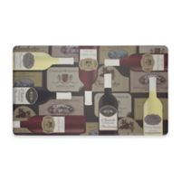 Chef Gear Wine Label Gelness 18-Inch x 30-Inch Anti-Fatigue Kitchen Mat in Red