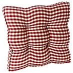 Klear Vu Gingham Square Universal Chair Pads with Grip Dot® in Red (Set of 2)