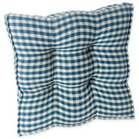 Klear Vu Gingham Square Universal Chair Pads with Grip Dot® in Blue (Set of 2)