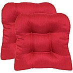 Morocco Non-Skid Waterfall Chair Pads in Garnet (Set of 2)