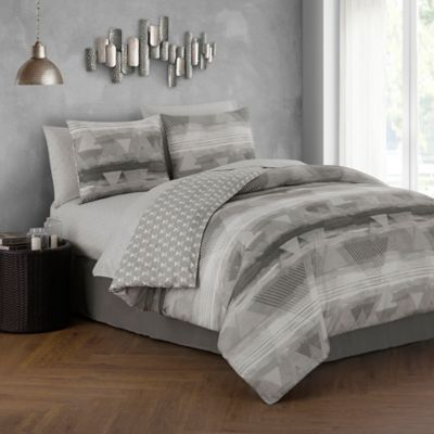holdin 8piece reversible king comforter set in greyblack