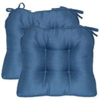 Morocco Boxed Edge Seat Cushion in Cornflower (Set of 2)