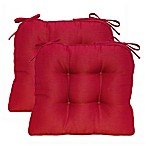 Morocco Boxed Edge Seat Cushion in Garnet (Set of 2)