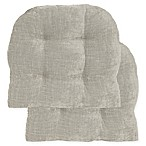 Jordan Non-Skid Waterfall Chair Pad in Taupe (Set of 2)