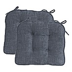 Jordan Boxed Edge Seat Cushion in Grey (Set of 2)