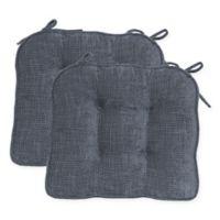 Jordan Boxed Edge Seat Cushion in Grey (Set of 2)
