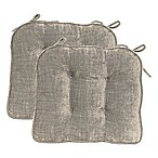 Jordan Boxed Edge Seat Cushion in Taupe (Set of 2)