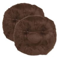Faux Suede Barstool Covers in Coffee Bean (Set of 2)