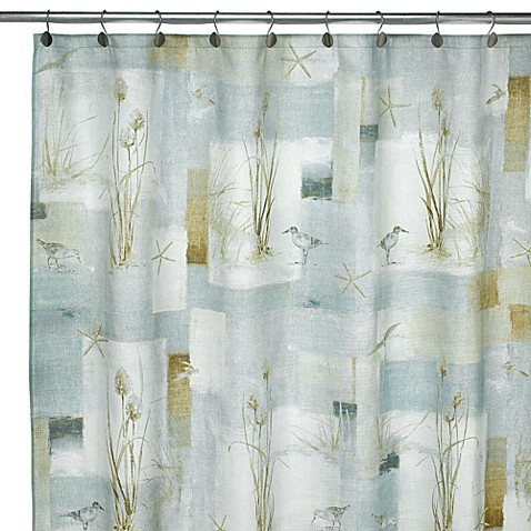Avanti Blue Waters Fabric Shower Curtain Bed Bath Beyond
