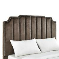 iNSPIRE Q® Liza Art Deco Velvet Full Headboard in Brown
