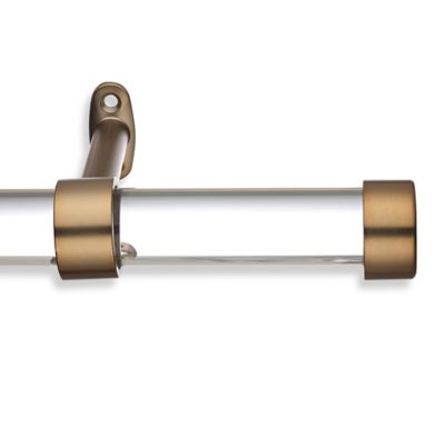 Captivating Cambria® Acrylic 126 Inch Single Curtain Rod In Warm Gold
