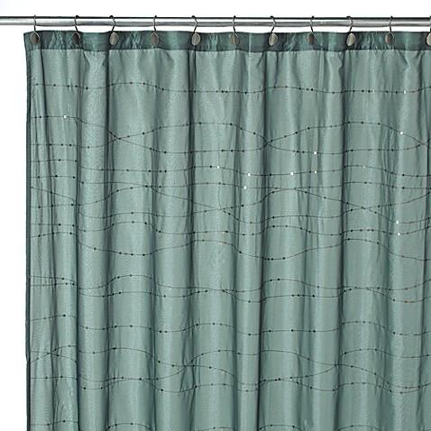 Croscill Razzle Aqua Fabric Shower Curtain Bed Bath Amp Beyond