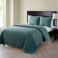 VCNY Home Caroline Embossed Full/Queen Quilt Set in Sage