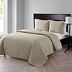 VCNY Home Caroline Embossed King Quilt Set in Taupe