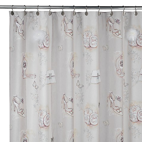 Haute couture 72 x 72 fabric shower curtain bed bath for Haute couture sale