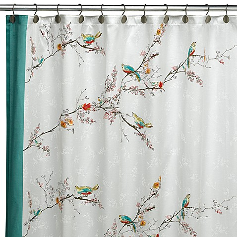 Good Lenox® Simply Fine™ Chirp™ Fabric Shower Curtain