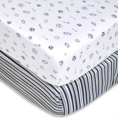 tl care 2pack jersey knit fitted crib sheet - Jersey Knit Sheets