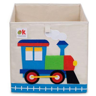 Captivating Toy Storage U003e Olive Kids Train Storage Cube