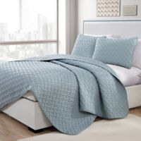 VCNY Home Nia Embossed Twin Quilt Set in Blue