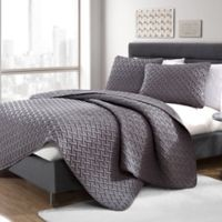 VCNY Home Nia Embossed Full/Queen Quilt Set in Grey