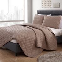 VCNY Home Nia Embossed King Quilt Set in Taupe