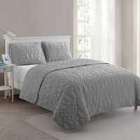 VCNY Home Shore King Quilt Set in Grey