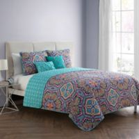 VCNY Home Yara Reversible Full/Queen Quilt Set in Aqua