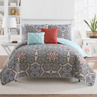 VCNY Home Yara Reversible King Quilt Set in Multi