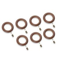 Cambria® Estate Wood Clip Rings in Brown (Set of 7)