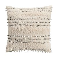 KAS Eden Tufted Square Throw Pillow in Ivory