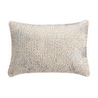 KAS Eden Knit Oblong Throw Pillow in Ivory