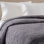 Wamsutta® Vintage Tufted Velvet Full/Queen in Charcoal